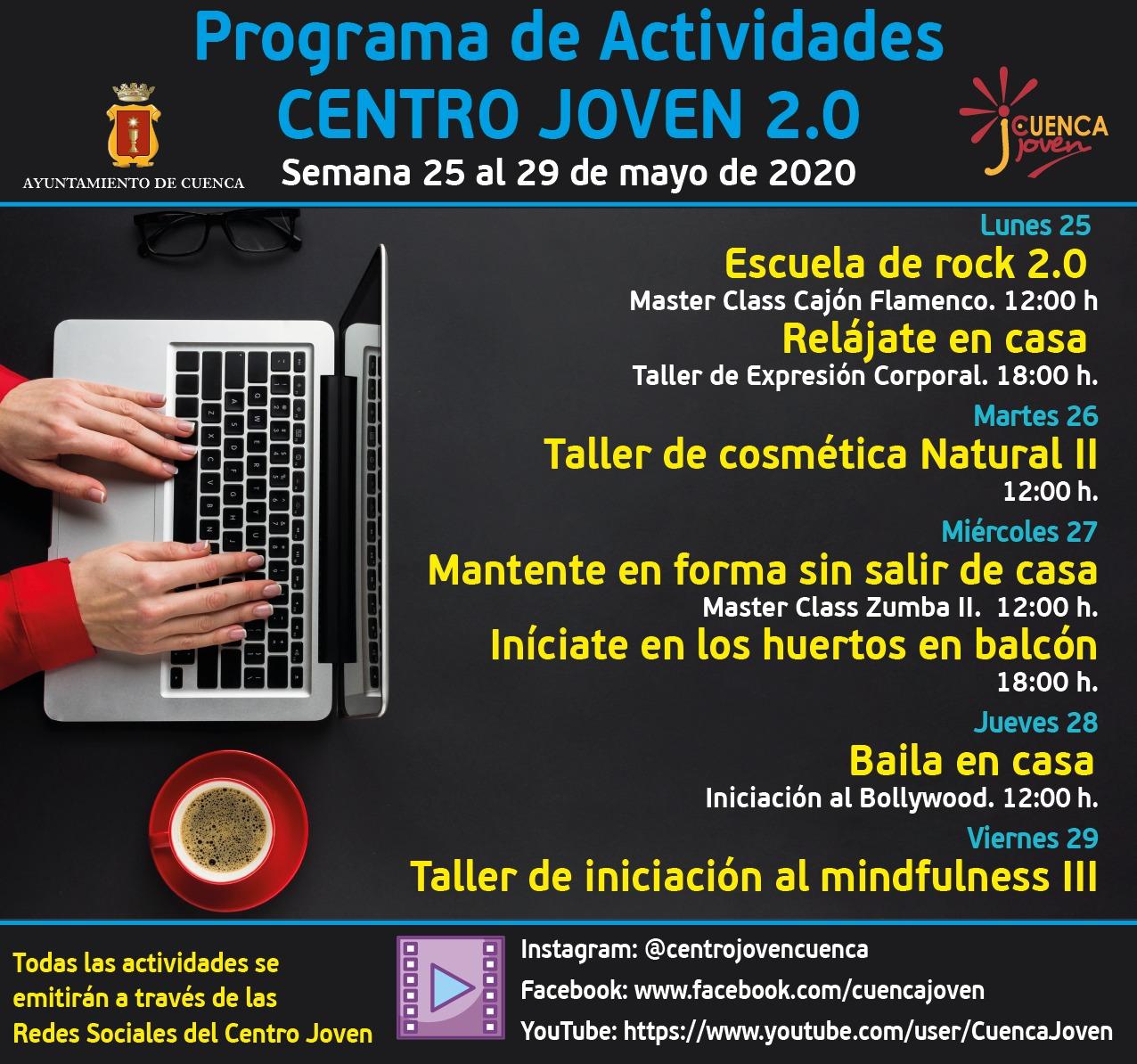 Semana del 25 al 29 de mayo Centro Joven 2.0
