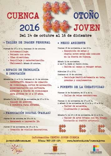 """Programa de Ocio y Tiempo Libre """"Otoño Joven 2016"""""""